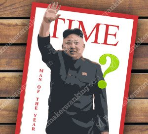 Will Kim Dzong Un be the person of the year of 2017 according to The Times Magazine?
