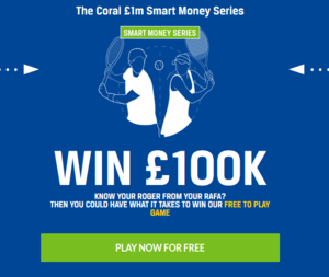 100 thousand pounds prize pool bettor contest from Coral