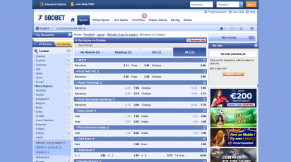 Sbobet Betting Offer