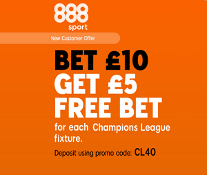 bookmaker 888sport champions league special welcome bonus
